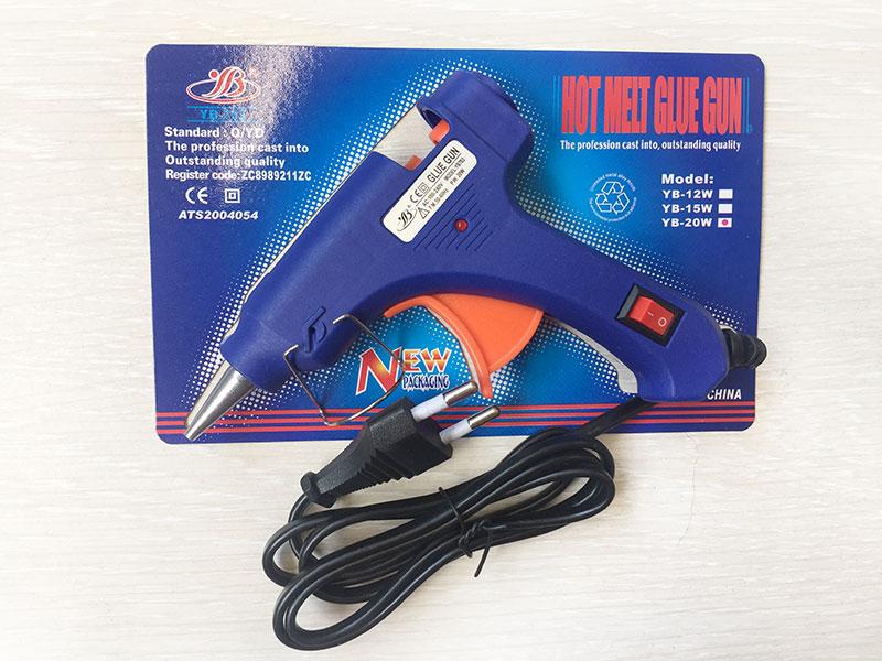 Клеевой пистолет синий(диаметр стержня 7мм)
