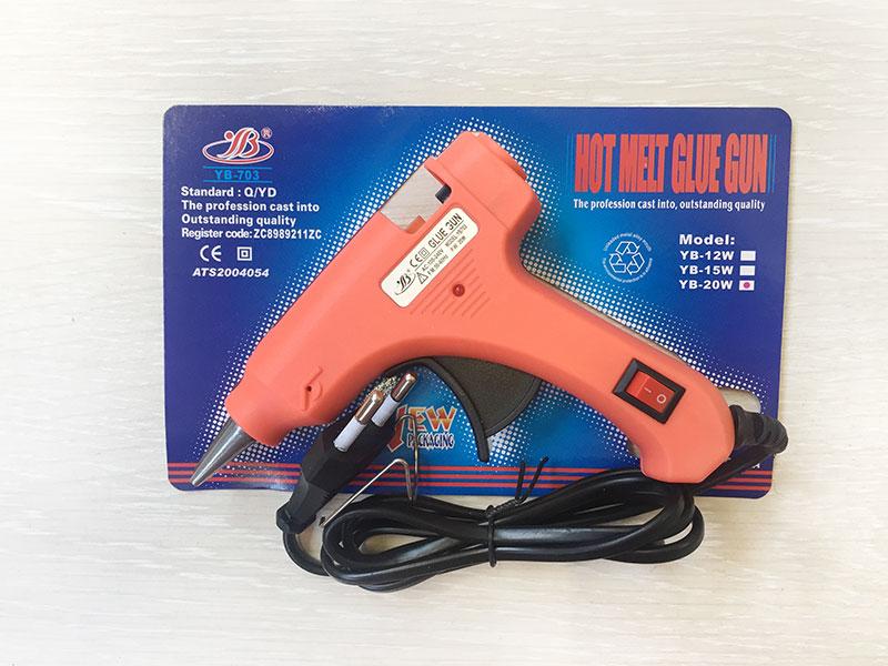 Клеевой пистолет оранжевый (диаметр стержня 7мм)