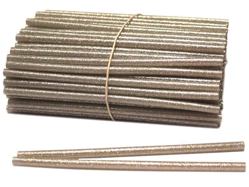 Термоклей-блестки(серебро) 7мм*18см (уп. 1кг)
