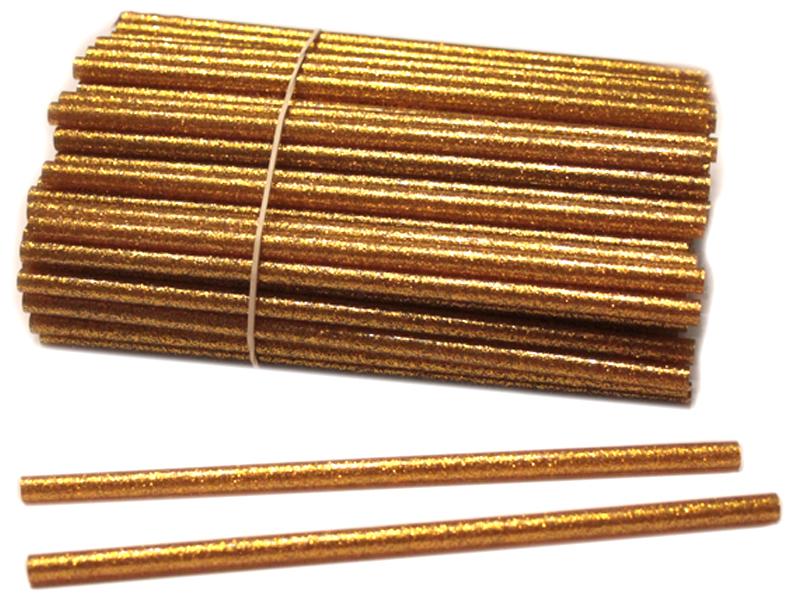 Термоклей-блестки(золото) 7мм*18см (уп. 1кг)