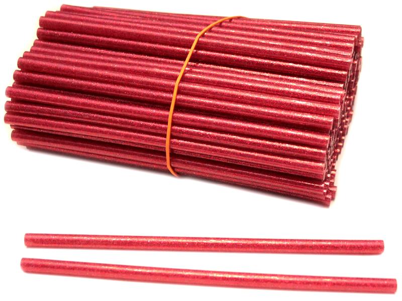 Термоклей-блестки(красный) 7мм*18см (уп. 1кг)
