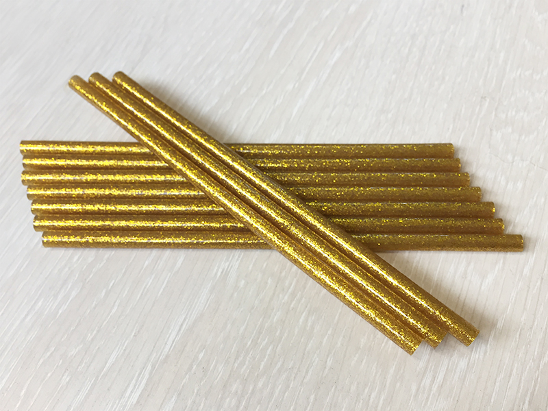 Термоклей-блестки(золото) 7мм*18см (уп. 10шт)