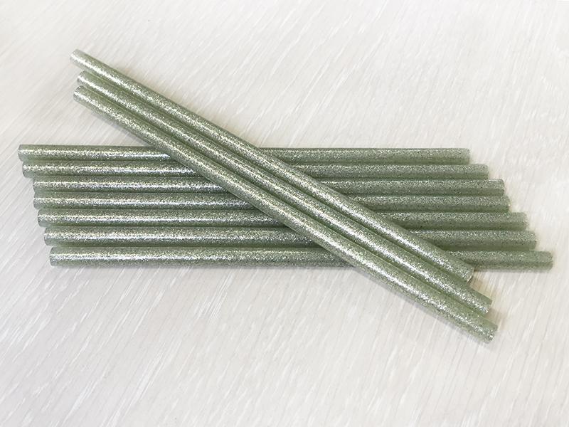 Термоклей-блестки(серебро) 7мм*18см (уп. 10шт)