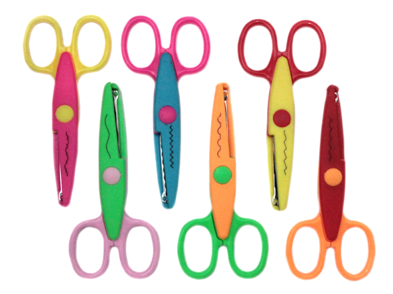 Ножницы фигурные (металл/пластик)13см