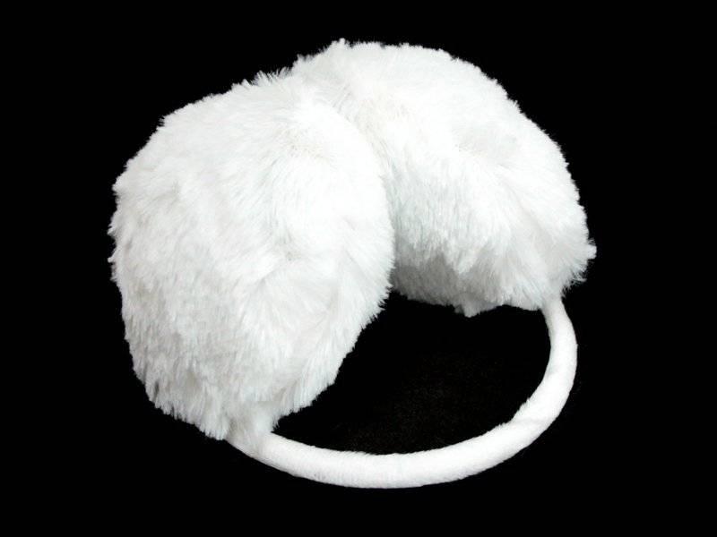 Меховые наушники (белые)