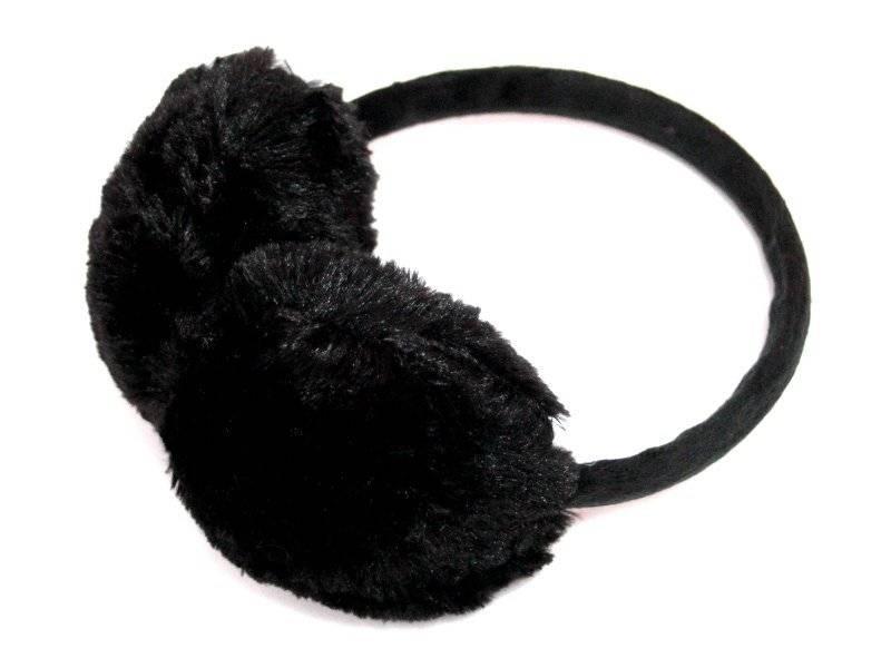 Наушники искуственный мех (цв.черный)