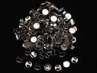 Основа для резинки (металл) цвет серебро 9мм