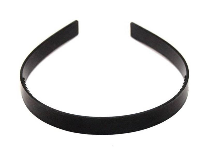 Ободок-основа пластик (цвет черный) 1см