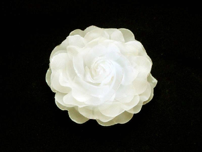 Цветок - резинка (брошь) кремовый10см