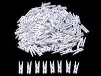 Прищепки декоративные 3см (дерево-белые)